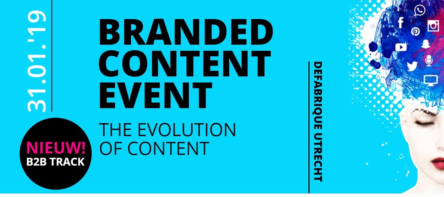 Branded Content Event 31 januari – Exclusieve korting voor NIMA Members (op=op)