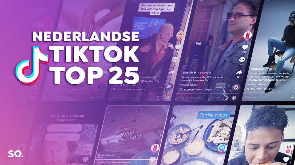 Netflix op nummer één in Nederlandse TikTok Top 25